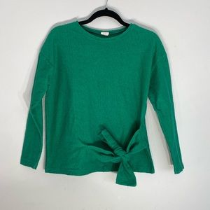 BEAUTIFUL Green Zara sweatshirt with knot